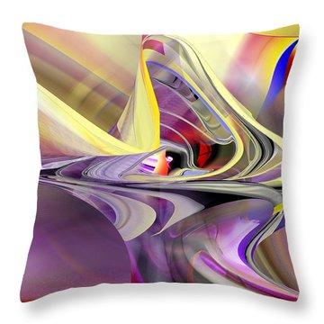 Eye Watcher - Abstract Art Throw Pillow