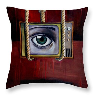 Eye Witness Throw Pillow by Leah Saulnier The Painting Maniac