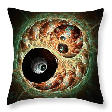 Eyeballs Throw Pillow by Anastasiya Malakhova