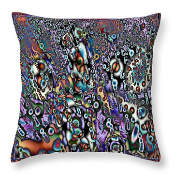 Eyeballs And Eight Balls Throw Pillow