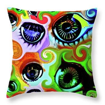 Eyecandy Throw Pillow by Gwyn Newcombe