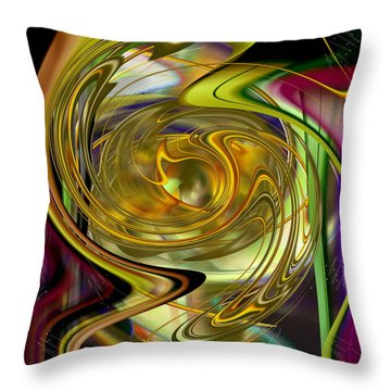 Throw Pillow featuring the digital art Eyeing A New World - Digital Illustration by Roy Erickson
