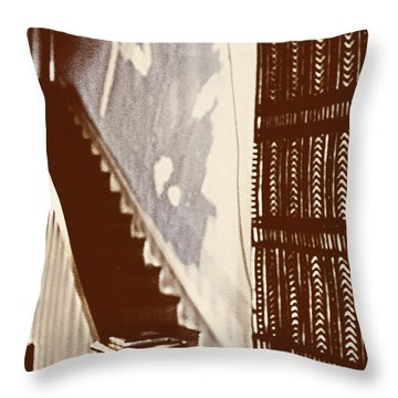 Eyes At The Top Of The Stairs Throw Pillow