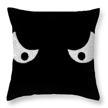 Eyes - In The Dark Throw Pillow by Mike Savad