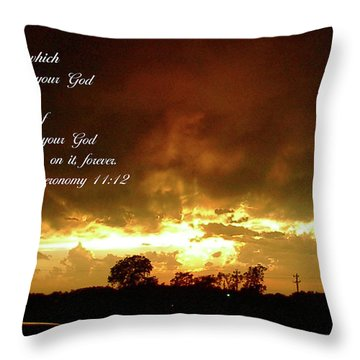 Eyes Of God Throw Pillow by Robyn Stacey