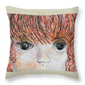 Eyes Of Innocence Throw Pillow by Eloise Schneider