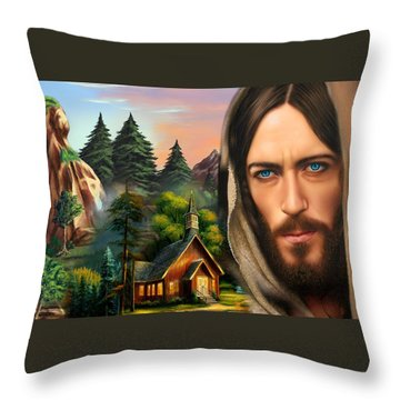 Eyes Of Love And Compassion 2 Throw Pillow by Karen Showell