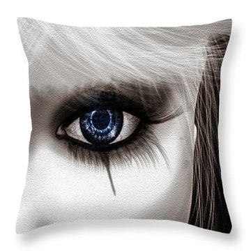 Eyes Of The Fool Throw Pillow by Bob Orsillo
