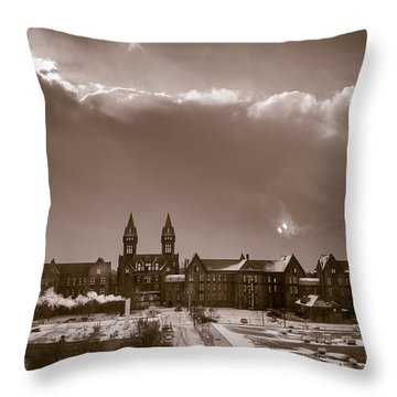Eyes Over Richardson Center Throw Pillow