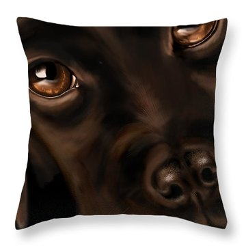 Eyes Throw Pillow by Veronica Minozzi