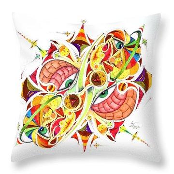 Eyestralogic Throw Pillow