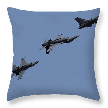 F-16 Fighting Falcon Throw Pillow by Ramabhadran Thirupattur