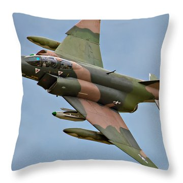 F-4 Phantom II Throw Pillow by Bill Lindsay