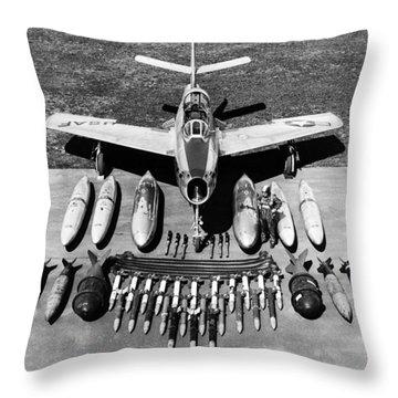 F-84f Thunderstreak Weapons Throw Pillow