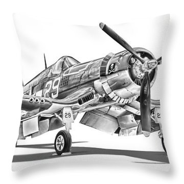 F4u Corsair Throw Pillow