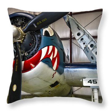 F6f Hellcat Throw Pillow by Dale Jackson