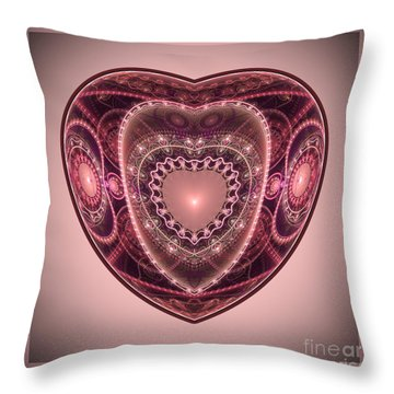 Faberge Heart Throw Pillow