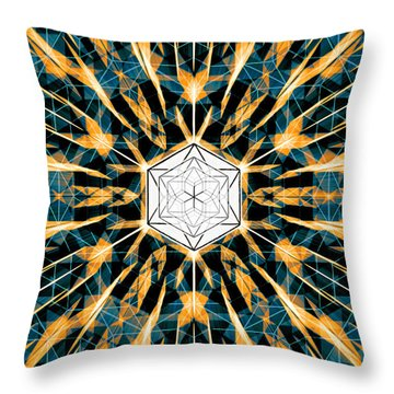 Throw Pillow featuring the drawing Fabric Of The Universe by Derek Gedney