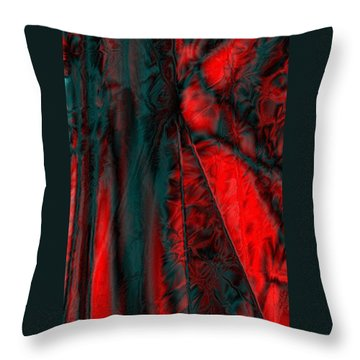 Fabric Study 01 Satin Throw Pillow by Paula Ayers