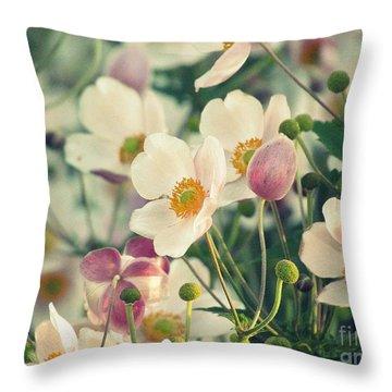 Fabulous  Anemones Throw Pillow by France Laliberte