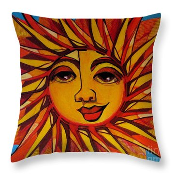 Fabulous Fanny - Here Comes The Sun Throw Pillow