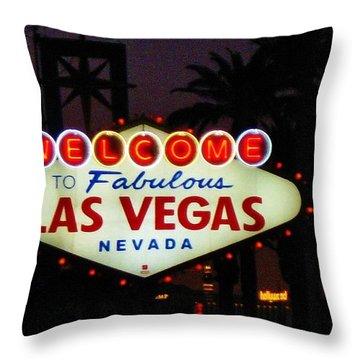 Fabulous Las Vegas Throw Pillow by John Malone