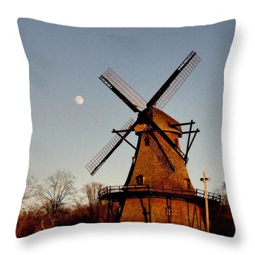 Fabyan Windmill Throw Pillow by Ely Arsha