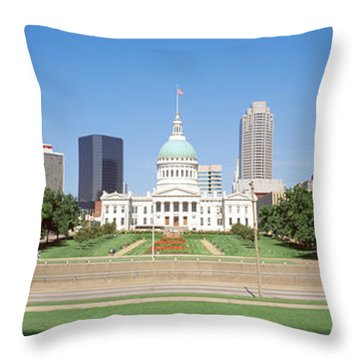 Facade Of A Courthouse, Old Courthouse Throw Pillow