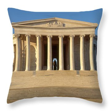 Facade Of A Memorial, Jefferson Throw Pillow by Panoramic Images