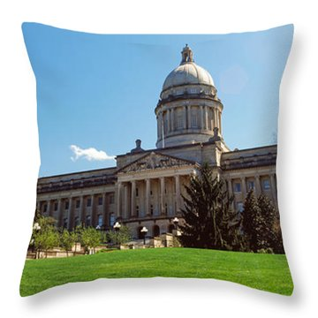 Facade Of State Capitol Building Throw Pillow