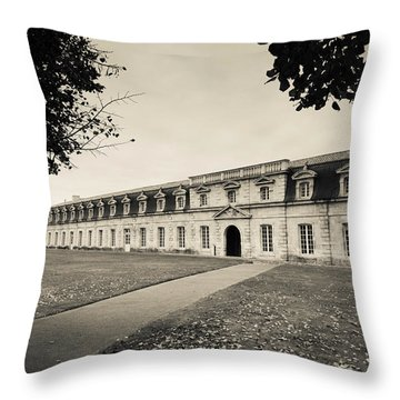 Facade Of The Rope Making Factory Throw Pillow
