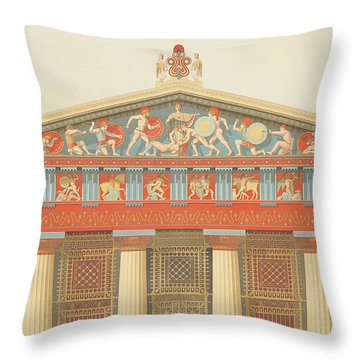 Facade Of The Temple Of Jupiter Throw Pillow