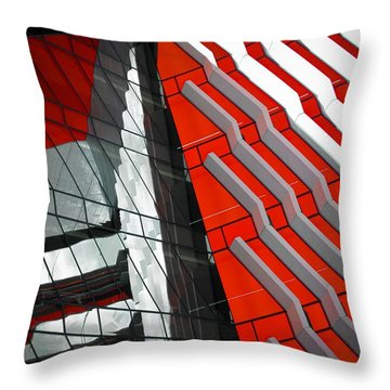 Facadism Throw Pillow by Wayne Sherriff