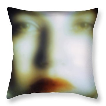 Face #07 - Dripping Souls Throw Pillow by Alfredo Gonzalez
