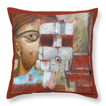 Face Behind Face Throw Pillow
