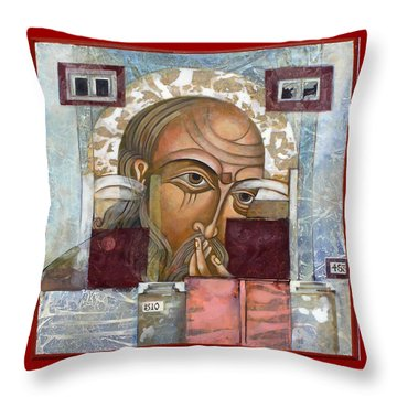 Face Behind Gate Throw Pillow