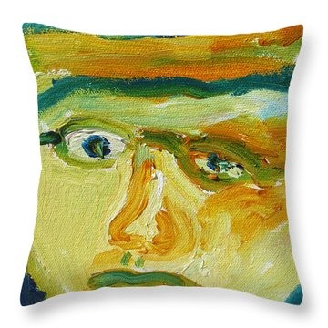 Face Eight Throw Pillow