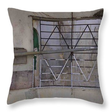 Face Left Throw Pillow by Kandy Hurley