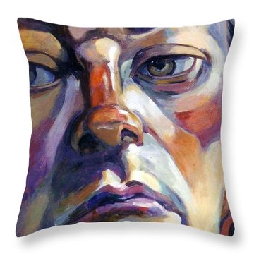 Face Of A Man Throw Pillow by Stan Esson