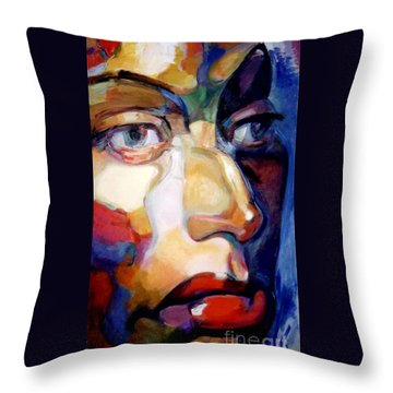Face Of A Woman Throw Pillow by Stan Esson