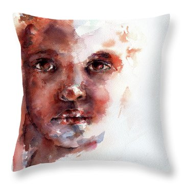 Face Of Africa Throw Pillow by Stephie Butler