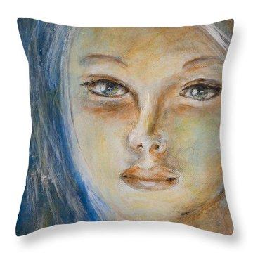 Face Of An Angel Throw Pillow