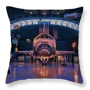Face Of Discovery Throw Pillow