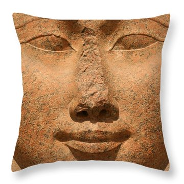 Face Of Hathor Throw Pillow by Stephen & Donna O'Meara