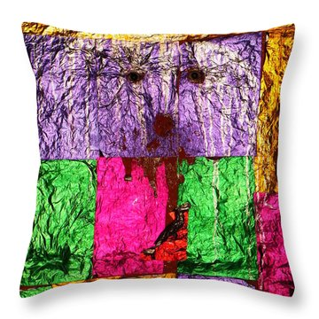 Face Of The Invisible - Ajaypal Temple Throw Pillow