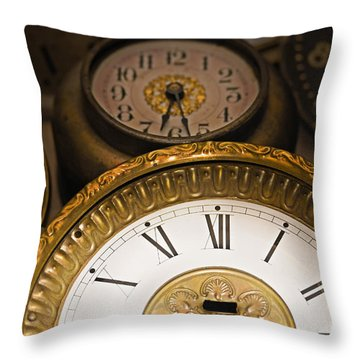 Face Of Time Throw Pillow by Tom Gari Gallery-Three-Photography