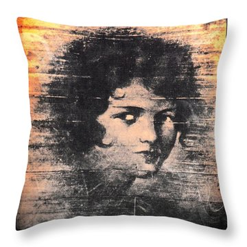 Face On The Ballroom Floor Throw Pillow