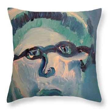 Face Three As Grandpa Snowman Throw Pillow