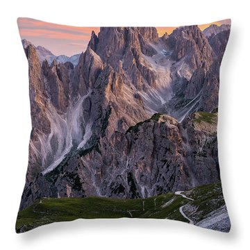 Mountain Sunset Throw Pillows