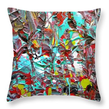 Face To Face Myeloma Throw Pillow